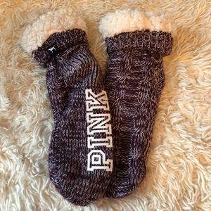 PINK by VS Sherpa Socks